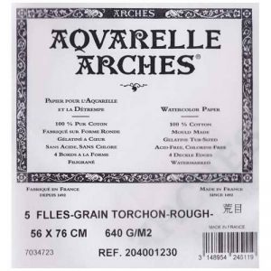 Arches Aquarelle 400123030x 55,9cm 640g/m² de premiers Canson papier aquarelle de la marque Arches Aquarelle image 0 produit