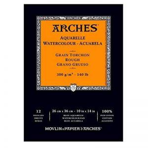 Arches Aquarelle Bloc 12 Feuilles 300 g Grain Torchon 26 x 36 cm Blanc Naturel de la marque Arches image 0 produit