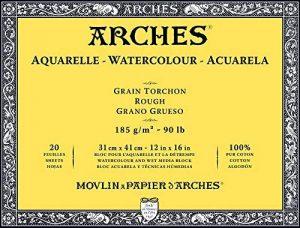 Arches Bloc Aquarelle Grain torchon 31 x 41 cm 185 g 20 Pages Naturel Blanc de la marque Arches image 0 produit