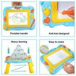 Ardoise Magique Tableau Sketchpad 2 en 1, De Dessin Magnétique Coloré, Planche à Dessin de Barbouillage Jouet Cadeau éducatif pour Enfants (Bleu-Jaune) de la marque YIMORE image 2 produit