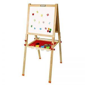 Arkmiido Tableau en bois Chevalet Magnétique Tableau Ardoise Double Face Réglables Multifonction avec Accessoires pour enfants de la marque Arkmiido image 0 produit