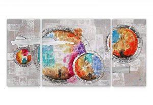 Arte Dal Mondo AS351TX2 Abstrait Tableau Moderne sur Toile avec Châssis Acrylique Multicolore 70 x 146 x 3,5 cm de la marque Arte Dal Mondo image 0 produit