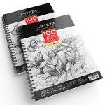 Arteza Croquis Des Livres, Papier a Dessin, Sketch Book - Pad 22.9 x 30.5 CM de la marque ARTEZA® image 4 produit
