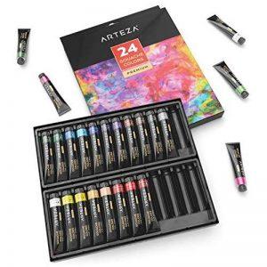 ARTEZA Ensemble Peinture Gouache Haut de Gamme pour Artiste - 24 Tubes Couleurs (24 x 12 ml) de la marque ARTEZA® image 0 produit