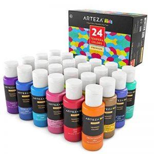 ARTEZA® Peinture Enfants Tempera Haut de Gamme, en Coffret de 24 Couleurs Type Paillette, Métallique, Néon, et STD (Tubes de 24 Couleurs x 29 ml) de la marque ARTEZA® image 0 produit