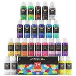 ARTEZA® Peinture Enfants Tempera Haut de Gamme, en Coffret de 24 Couleurs Type Paillette, Métallique, Néon, et STD (Tubes de 24 Couleurs x 29 ml) de la marque ARTEZA® image 4 produit
