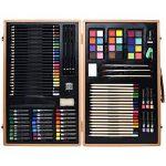 Artina A110 Coffret de peinture en bois Genova 89 pieces - Crayons à papier et de couleurs, aquarelle … de la marque Artina image 2 produit