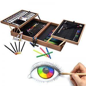 Artina A126 Coffret de peinture en bois MDF 127 pieces Bologna - Pastels à l'huile, Crayons à papier et de couleurs, Aquarelle, Acrylique… de la marque Artina image 0 produit