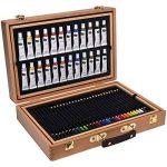 Artina A126 Coffret de peinture en bois MDF 127 pieces Bologna - Pastels à l'huile, Crayons à papier et de couleurs, Aquarelle, Acrylique… de la marque Artina image 1 produit