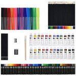 Artina A126 Coffret de peinture en bois MDF 127 pieces Bologna - Pastels à l'huile, Crayons à papier et de couleurs, Aquarelle, Acrylique… de la marque Artina image 3 produit