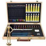 Artina - Boite Mallette pour artiste Leonardo - Ensemble complet de 45 pcs - Peinture acrylique, crayons, pastels de la marque Artina image 2 produit