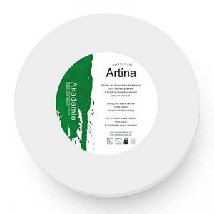 Artina - Châssis entoilé - Toile à peindre - Akademie - Apprêtée 2 fois - Ronde Ø 30cm 280g/m² de la marque Artina image 0 produit