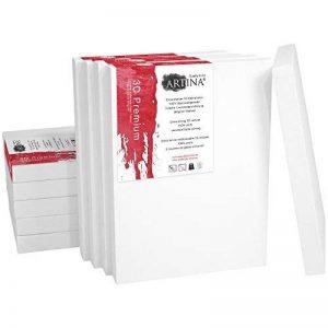 Artina - Châssis entoilé - Toile à peindre - 3D Premium - Qualité fine - Apprêtée 3 fois - Lot de 10 - 30x90cm 380g/m² de la marque Artina image 0 produit