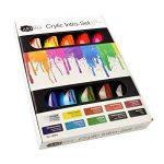 Artina crylic Peinture acrylique pour artistes Fortement pigmentées Lot de 10 tubes de peinture acrylique de 120ml de la marque Artina image 2 produit