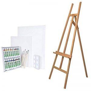 Artina Ensemble de peinture- Chevalet «Sevilla» en bois de hêtre + Set de peinture aquarelle de la marque Artina image 0 produit