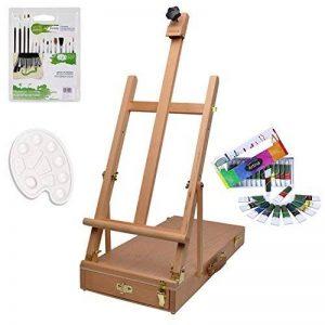 Artina kit d'initiation - Ensemble de peinture Acrylique - Pour artistes débutant - Boite Mallette chevalet de table + Accessoires de la marque Artina image 0 produit
