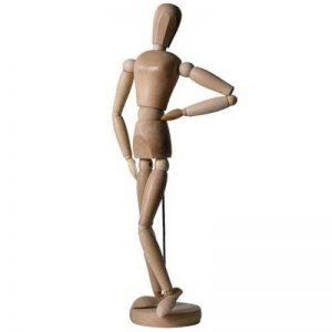 Artina Modèle de dessin Féminin Dali - Figurine pour esquisse - Mannequin proportion humaine position réglable - En bois - 66cm de la marque Artina image 0 produit