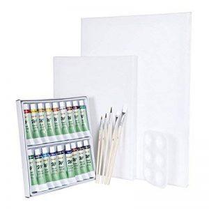 Artina Set complet pour aquarelle Malta - 2 toiles à peindre 18 tubes de peinture + accessoires pinceaux palette de la marque Artina image 0 produit