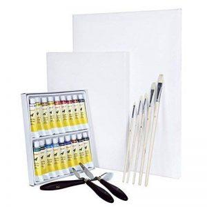 Artina Set complet pour peinture acrylique Malta - 2 toiles à peindre 18 tubes de peinture + accessoires pinceaux spatules de la marque Artina image 0 produit