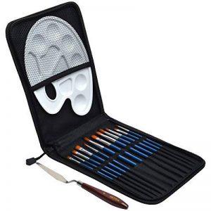 Artina Set de Pinceaux brosses Rome pour Artistes inclus Palette couteau et boite - 15 pieces pour acrylique et peinture à l'huile de la marque Artina image 0 produit