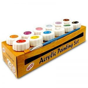 Assortiment de peintures acryliques 12 Colour Blue/Brown/Pink/Red/White/Yellow de la marque Quay image 0 produit