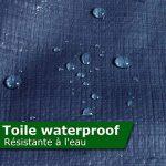 Bâche de protection casa pura® en polyéthylène | haute densité 260g/m² | 100% imperméable à l'eau et aux UV | bleu - env. 2x3m de la marque casa pura image 3 produit
