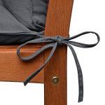 Beautissu Coussin pour banc de jardin, terrasse, balcon Flair BR - balancelle - Banquette - Assise confortable - 120x100x10cm - Graphite Gris de la marque Beautissu image 4 produit