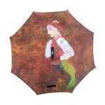 Bennigiry Step by Peinture acrylique double couche inversé Parapluie inversé Parapluie pliable en protection contre les UV, coupe-vent Grand parapluie droites pour voiture de pluie d'extérieur avec poignée en forme de C de la marque BENNIGIRY image 1 produit