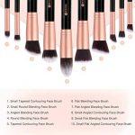 BESTOPE Make Up Set de 10 pinceaux cosmétiques avec poils synthétiques Set pinceaux cosmétiques pour professionnels ou amateurs set de pinceaux de maquillage (or rose) de la marque BESTOPE image 2 produit