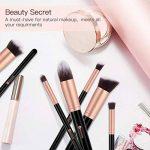 BESTOPE Make Up Set de 10 pinceaux cosmétiques avec poils synthétiques Set pinceaux cosmétiques pour professionnels ou amateurs set de pinceaux de maquillage (or rose) de la marque BESTOPE image 3 produit