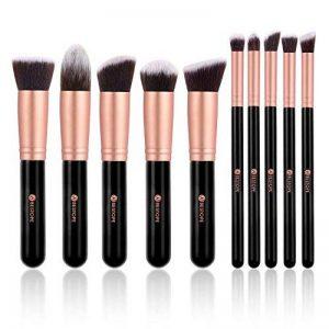 BESTOPE Make Up Set de 10 pinceaux cosmétiques avec poils synthétiques Set pinceaux cosmétiques pour professionnels ou amateurs set de pinceaux de maquillage (or rose) de la marque BESTOPE image 0 produit