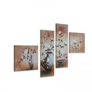 Bilderdepot24 magnolia M1 tableau peinture, sur toile, peint à la main, 100x70cm ensemble de 4 pièces 228 de la marque Bilderdepot24 image 0 produit