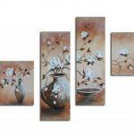 Bilderdepot24 magnolia M1 tableau peinture, sur toile, peint à la main, 100x70cm ensemble de 4 pièces 228 de la marque Bilderdepot24 image 1 produit