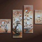 Bilderdepot24 magnolia M1 tableau peinture, sur toile, peint à la main, 100x70cm ensemble de 4 pièces 228 de la marque Bilderdepot24 image 3 produit
