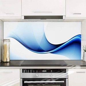 Bilderwelten Crédence en verre - Blue Conversion - Paysage 1:2, peinture murale revetement mural cuisine dosseret de cuisine impression sur verre fond de cuisine, Dimension: 40cm x 80cm de la marque Bilderwelten image 0 produit