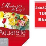 Bloc aquarelle 100 feuilles 325 gr 24x32 cm Moulin du coq de la marque Hahnemühle image 1 produit