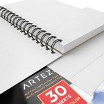 Bloc Aquarelle Arteza, Pack de 3, 14 x 21.6cm pour Peinture/Dessin, 90 feuilles, 300g/m2 Papier Blanc Pressé à Froid, Sans Acide, Parfait pour la peinture humide, sèche et les techniques mixtes de la marque ARTEZA® image 3 produit