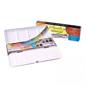 Boîte d'aquarelles extra-fines 12 demi-godets + 6 gratuits de la marque Sennelier image 0 produit