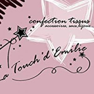 Boucles d'oreilles Maxi Eventail Menthe Pailletée et Simili Gris/Bleu Boucles Tissu de la marque La Touch' D'Emilie - Le tissu dans tous ses états !!! image 0 produit