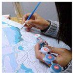 Bricolage numérique toile peinture à l'huile de décoration en nombre Kits 16 * 20 pouces-E863 de la marque nadamuSun image 2 produit