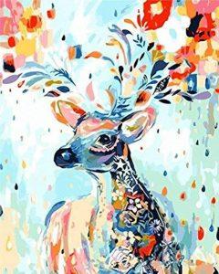 Bricolage numérique toile peinture à l'huile de décoration en nombre Kits 16 * 20 pouces (cerf) de la marque nadamuSum image 0 produit