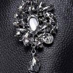 Broche de luxe haut de gamme hommes strass grand accessoire de luxe exagérée rétro pourpre corsage de la marque AUTULET image 4 produit