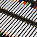 BTSKY Mallette/trousse colorée grande capacité pour 216crayons en similicuir avec feuillets amovibles et reliure à 3anneaux (pas de crayons fournis) Noir de la marque BTSKY image 3 produit
