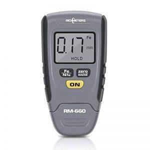 Calibre D'épaisseur Numérique 0-1.25mm LCD Jauge Épaisseur Capteur Mesure De Revêtement Testeur Épaisseur De Voiture Base De Fer En Aluminium de la marque Yosoo image 0 produit