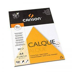 Canson Arts graphiques 200757240 Papier calque A4 21 x 29,7 cm 50 feuilles Transparent de la marque Canson image 0 produit