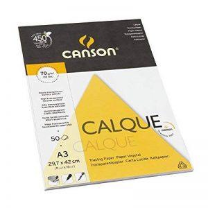 Canson Arts graphiques 200757244 Papier calque A3 29,7 x 42 cm 50 feuilles Transparent de la marque Canson image 0 produit