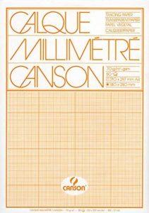 CANSON - Bloc calque millimétré, format A4, extra transparent,70/75 g/m2 de la marque Canson image 0 produit