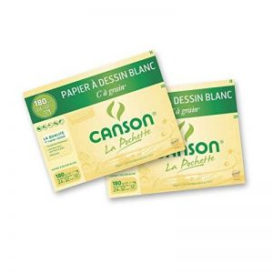 Canson C à grain Lot de 2 Papier à dessin 24 x 32 cm Blanc de la marque Canson image 0 produit