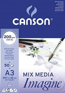 Canson Imagine Papier à dessin A3 29,7 x 42 cm 50 feuilles Blanc pur de la marque Canson image 0 produit