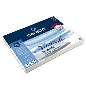 Canson Montval Papier aquarelle 24 x 32 cm 100 feuilles Blanc naturel de la marque Canson image 0 produit